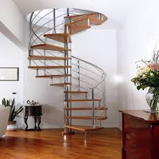 Stair Banister Glass High Quality Spiral Staircase Interiror Wood Treads Glass Ralings