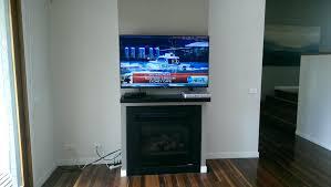 lcd tv wall mount fireplace bracket step flat screen above hide