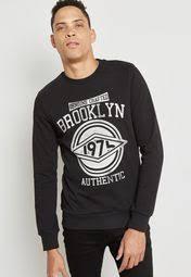 shop produkt black far genuine sweatshirt 12135302 for men in kuwait