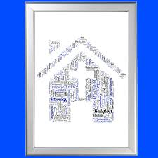 personalised bless this house word art great gift for celebrating