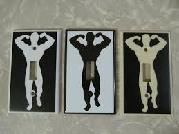 custom light switch covers custom muscle man light switch plate cover funny