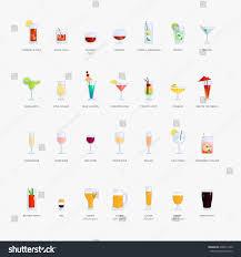 twenty eight cocktail beer vector icons stock vector 698691340