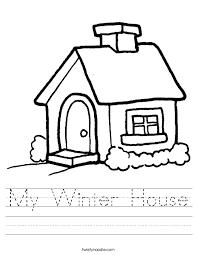 my winter house worksheet twisty noodle