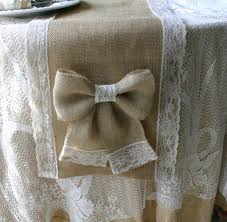 burlap and lace table runners country weddings shabby