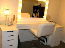 Lighted Vanity Mirrors For Bathroom Large Lighted Vanity Mirror Lights Best Makeup Make With Regard To