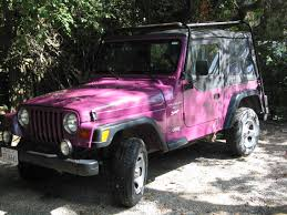 jeep wrangler pink jeep