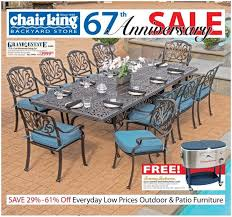 Chair King Outdoor Furniture - backyards cool backyard furniture sale outdoor furniture auction