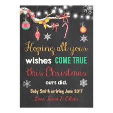 christmas pregnancy announcement pregnancy announcement cards invitations zazzle au