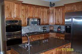 Knotty Wood Kitchen Cabinets - Rustic cherry kitchen cabinets