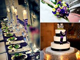 wedding reception decor at castle wedding in maryland purple