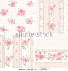 shabby chic wallpaper border seamless floral background and