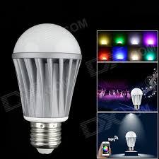 e27 7w 550lm rgbw 15 led smart phone wi fi music control color