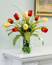 silk flower centerpieces mixed tulip silk flower arrangement yellow home