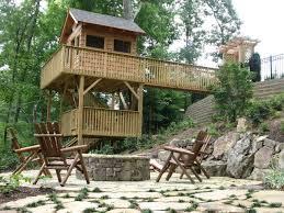 Steep Sloped Backyard Ideas Triyae Com U003d Deck Ideas For Steep Backyard Various Design