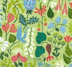 designer bilder stig lindberg fabric vtg 40s 50s scandinavian revival diy cushion