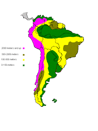 south america map rainforest topographical map of south america