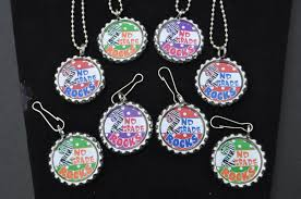 4 second grade bottlecap necklace or zipper pull diy kits 2nd