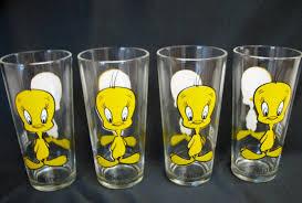 pepsi tweety bird glass set soda pepsi at j v collectibles