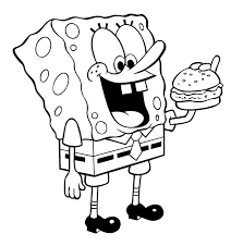 coloring free spongebob pages 100 at thanksgiving creativemove me