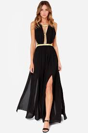 black and gold dress pretty black maxi dress plunging dress 64 00
