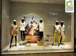 h m window display budapest retail design