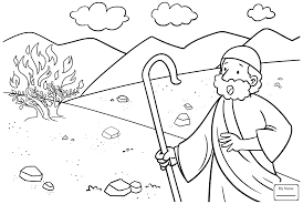 Moses Xyzcolor4kids Com Bible Coloring Pages Moses