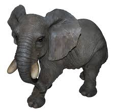now deal lucky elephant in recycled metal garden statue