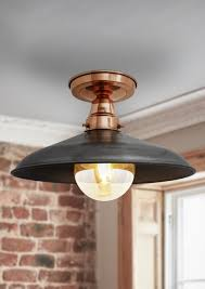 copper flush mount light vintage industrial barn flush mount ceiling light in copper pewter
