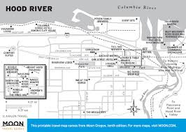 Columbia River Map Travel Maps Of Oregon Moon Travel Guides