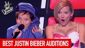 Voice Kids Blind Auditions Best Justin Bieber Blind Auditions In The Voice Kids Youtube