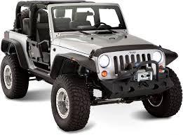 jeep wrangler unlimited flat fenders bushwacker 10919 07 flat style flares for 07 17 jeep wrangler jk