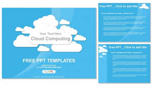 cloud computing on blue powerpoint templates