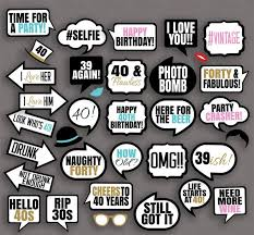 photo booth prop 35 x 40th birthday photo booth prop printables pixels and pine