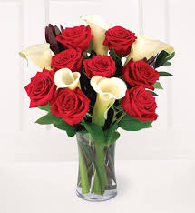 Calla Lily Flower Delivery - red roses and calla lilies bouquet next day flower delivery