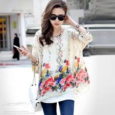 blouse shirt women 2017 new fashion floral print summer style