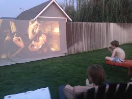 Backyard Projector 10 U0027 X 20 U0027 White Tarp For The Projector Screen We Made Our Our
