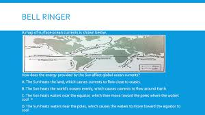 Map Of Ocean Currents Atmosphere In Motion Sc 6 E 7 5 Explain How Energy Provided By The