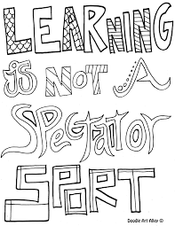 learning is not a spectator sport coloring pages for older kids