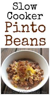 slow cooker pinto beans graceful little honey bee