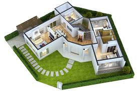 Home Designing 3d by Detailed House Floor 1 Cutaway 3d Model Cgtrader
