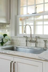 brushed nickel faucet with stainless steel sink pinney designs kitchens benjamin moore revere pewter light
