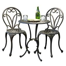 Balcony Bistro Set Patio Furniture New Cast Iron Bistro Patio Set Outdoor Table Chairs Furniture