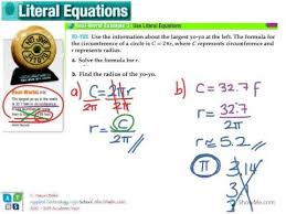 solving problems with literal equations youtube