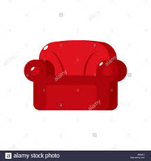 Soft Armchair Red Soft Armchair Upholstered Furniture Isolated On White