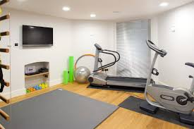 Small Treadmills For Small Spaces - gym room ideas for home home gym contemporary with workout