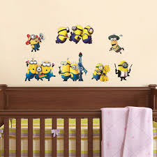 minions removable wall stickers