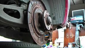 peugeot rear brake pad and handbrake shoe service youtube