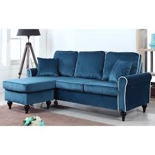 Blue Velvet Sectional Sofa Velvet Sectional Sofa Furniture Blue Wayfair Green Navy