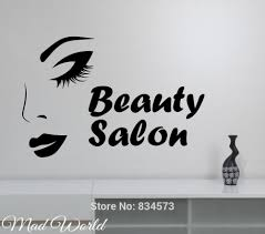 popular salon wall art buy cheap lots from china mad world beauty salon make face wall art stickers decal home diy decoration