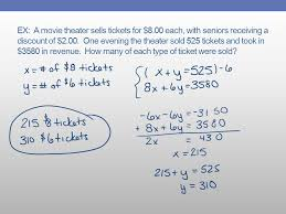 solve problems using systems of equations 2 ex
